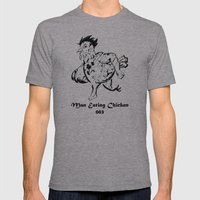 Man Eating Chicken 003 Mens Fitted Tee Athletic Grey SMALL
