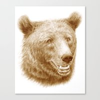 Brown Bear Is Happy Canvas Print