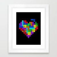 The Game of Love -Dark version Framed Art Print