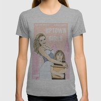 Uptown Girls Womens Fitted Tee Athletic Grey SMALL