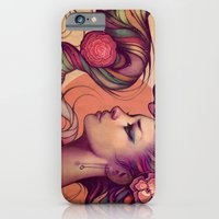 roses iPhone & iPod Cases featuring Leah by Megan Lara