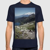 Mt Shasta Mens Fitted Tee Navy SMALL