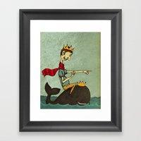 The King of Nothing Framed Art Print