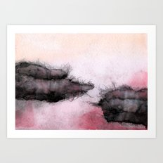 dark clouds Art Print