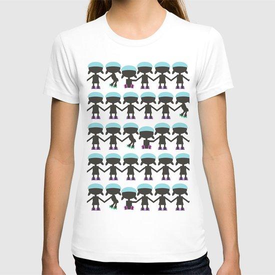 Roller Derby Paper Chain Dolls T-shirt