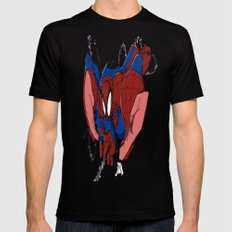 Spidey and the City Black SMALL Mens Fitted Tee