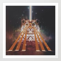 Tiger Wow Art Print