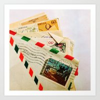 All The Letters That I Wrote To You Art Print