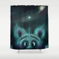 The Universe Creature Shower Curtain