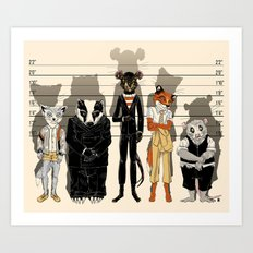 Unusual Suspects Art Print