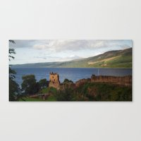 Urquhart Castle And Loch… Canvas Print
