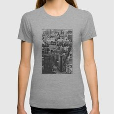 Old Downtown Womens Fitted Tee Athletic Grey SMALL