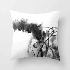 Flowers in black Throw Pillow