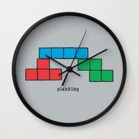 Planking Wall Clock