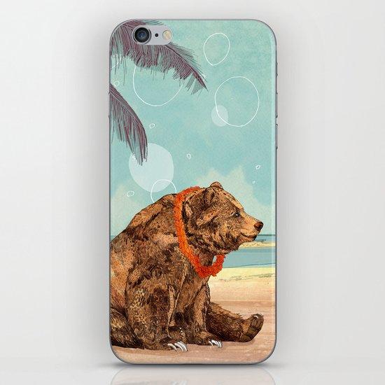 Beach Bear iPhone & iPod Skin