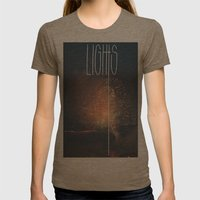 SKY LIGHTS Womens Fitted Tee Tri-Coffee SMALL