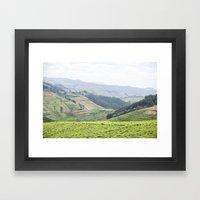 land of a thousand hills::rwanda Framed Art Print