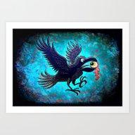 Crow Stealing An Eye Art Print