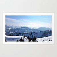Snow Landscape In Austri… Art Print