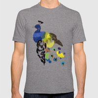 PEACOCK: THE BIRD OF 100… Mens Fitted Tee Tri-Grey SMALL
