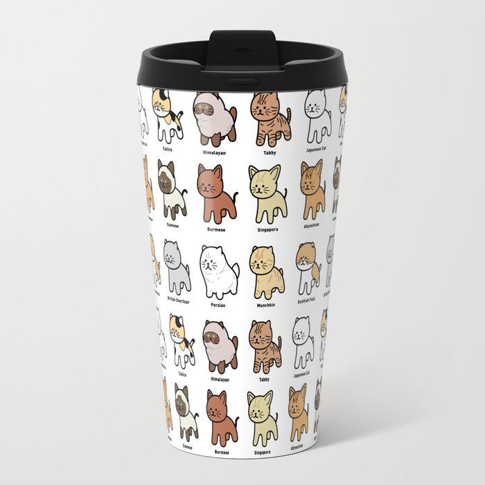 the various types of cat travel mug by kimiaki yaegashi