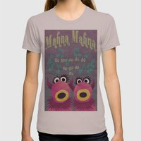 Mahna Mahna Womens Fitted Tee Cinder SMALL