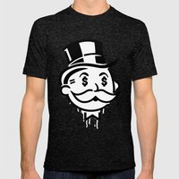 Another Day - Another Dollar Mens Fitted Tee Tri-Black SMALL