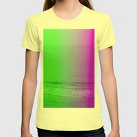 Green + Purple Womens Fitted Tee Lemon SMALL