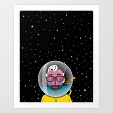 No one can hear you cry in space Art Print
