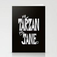 ME TARZAN YOU JANE. Stationery Cards