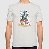 The Caterpillar Mens Fitted Tee Silver SMALL