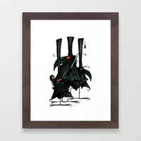 Murder Of Crows Framed Art Print