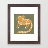 FANCY YELLOW Framed Art Print