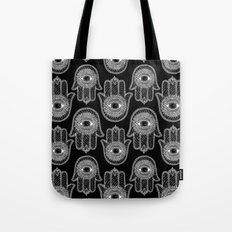 Hamsa B&W Tote Bag
