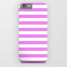 Horizontal Stripes (Violet/White) iPhone 6 Slim Case