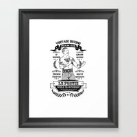 Vintage Boxing Framed Art Print