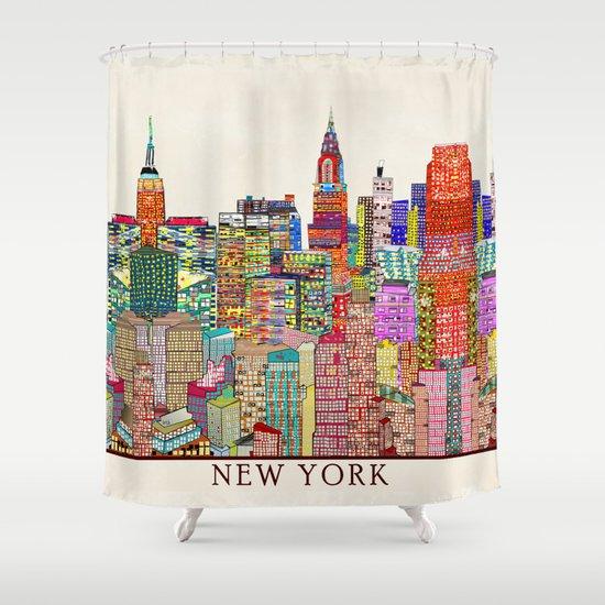 New York City Skyline Shower Curtain By Bri Buckley Society6