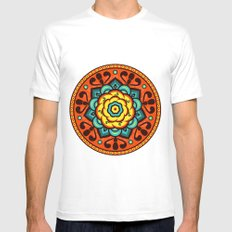 Floral Art Mens Fitted Tee White SMALL