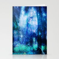 Blue night #Wood Stationery Cards