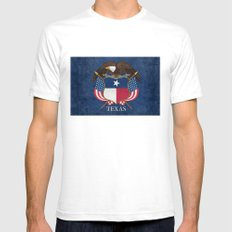 Texas Flag And Eagle Cre… Mens Fitted Tee White SMALL