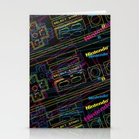 ness control pattern Stationery Cards