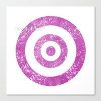 Target of desire - pink Canvas Print