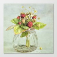 tiny berries Canvas Print