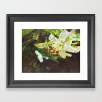 Honey Bee: Emerald Framed Art Print