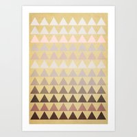 Muted Triangles Art Print