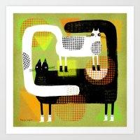 CAT BOOTS Art Print