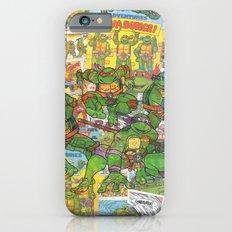 Vintage Comic Teenage Mutant Hero Turtles (Updated) iPhone 6s Slim Case