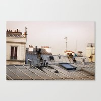 Paris Rooftop #1 Canvas Print