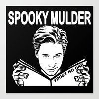 Spooky Mulder (black) Canvas Print