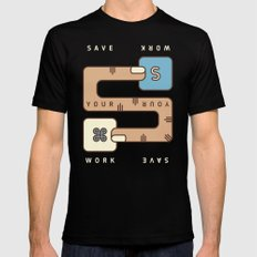Save Your Work Black SMALL Mens Fitted Tee
